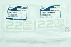 "Pair Sticker "" 2.2 6 Speed "" Decal Fits Ford Ranger T6 Mk2 Wildtrak 2012 2015 17"