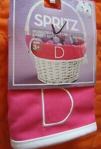 Pink//Purple Letter Z Spritz Monogram Easter Basket Liner Reversible