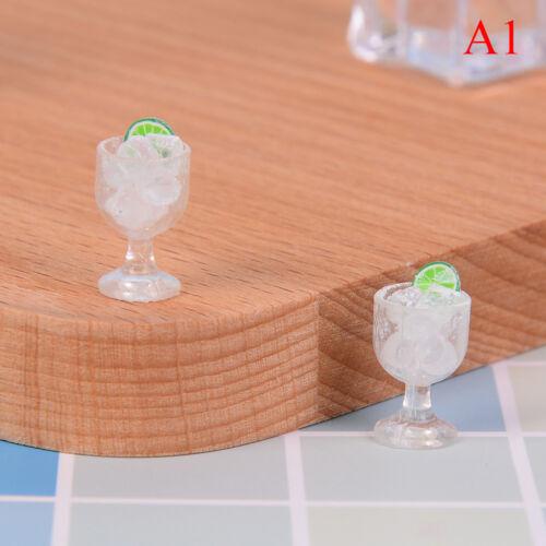 ice cube@/& 2Pcs dollhouse toy model miniature food mini glass cup