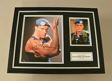 Jean-Claude Van Damme Signed Framed 16x12 Photo Street Fighter Autograph Display