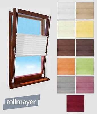 Fenster Plissee Klemmfix Selbstklebende Faltenrollo Jalousie Rollo ohne Bohren!
