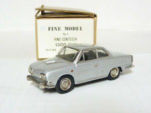 Fine-1-1-43-1965-Hino-Contessa-PD-1300-Coupe-Handmade-White-Metal-Model-Car