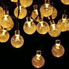 Homecube Outdoor Solar Powered 30 LED String Light Garden Path Yard Lamp Decor