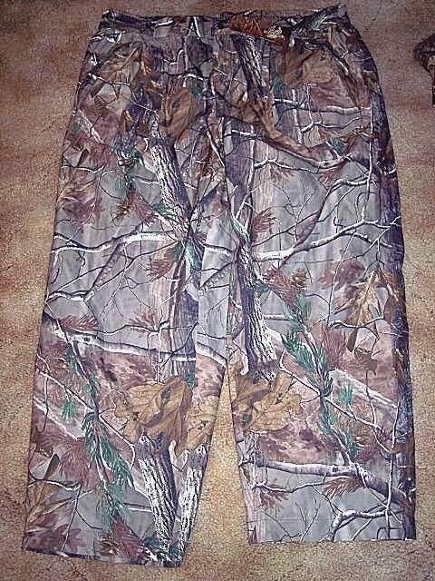 Mens 3X Rain Pants Realtree Camo Pants Hunting Non Insulated Pants  60 Retail