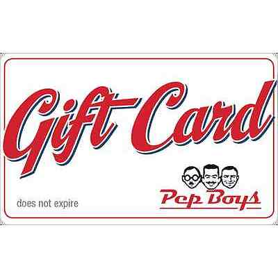 Pep Boys Gift Card $25 $50 - Email delivery