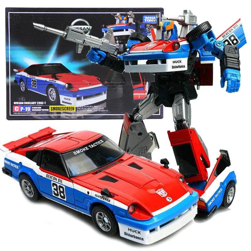Takara Masterpiece Transformers MP-19 Nissan 280Z-T Smokescreen Action Figures