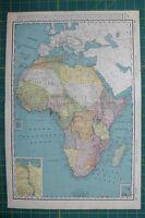 Africa Vintage Original 1895 Rand McNally World Atlas Map Lot