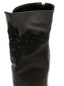 Monroe /& Main Black Gray Floral Riding Boots Western Cowgirl Dress  6M 8W 11W