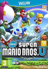 New Super Mario Bros. U Nintendo Wii U *NEW SEALED PAL* English / Italian Cover
