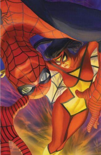 SPIDER-WOMAN 1 ALEX ROSS SPIDERMAN TEAM UP B VIRGIN VARIANT NM