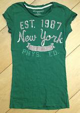 ~ AEROPOSTALE T Shirt Green, Ragazze, Taglia S Small ~