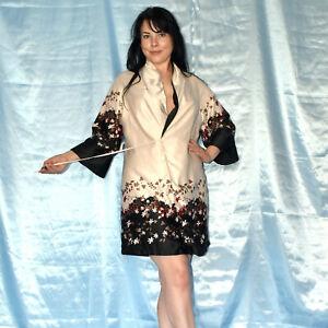 kurzer-weicher-MORGENMANTEL-S-Negligee-Bademantel-Nachthemd-Kimono-Pyjama