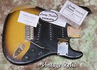 aged loaded nitro RELIC Stratocaster body Fralin pup Callaham bridge Fender pick