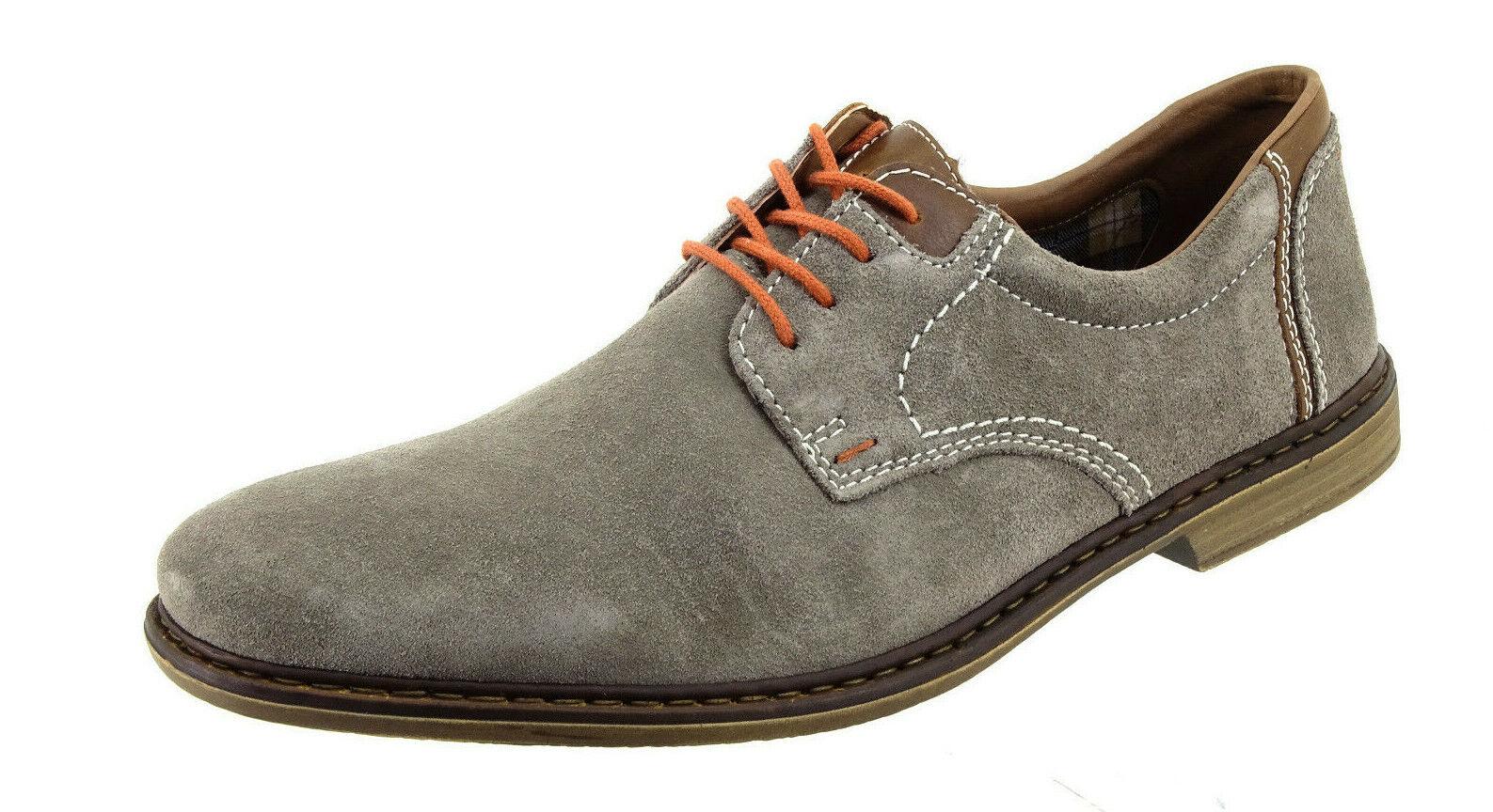 Rieker Leder Schuhe 45 Braun Kaum getragene Schnürschuhe
