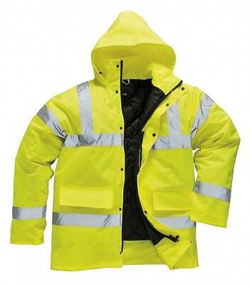 Kraftvoll Hi Viz Waterproof Jacket Hi Vis Safety Work Work Contractor Coat Portwest S460 Knitterfestigkeit