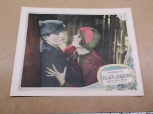 "BLACK PARADISE(1926)MADGE BELLAMY ORIGINAL 11""BY14"" LOBBY CARD NM GORGEOUS!"