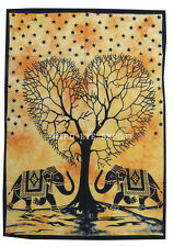 IndianTREE OF LIFE HEART  Wall Hanging Decor Cotton Poster Home Decor Tapestry,,