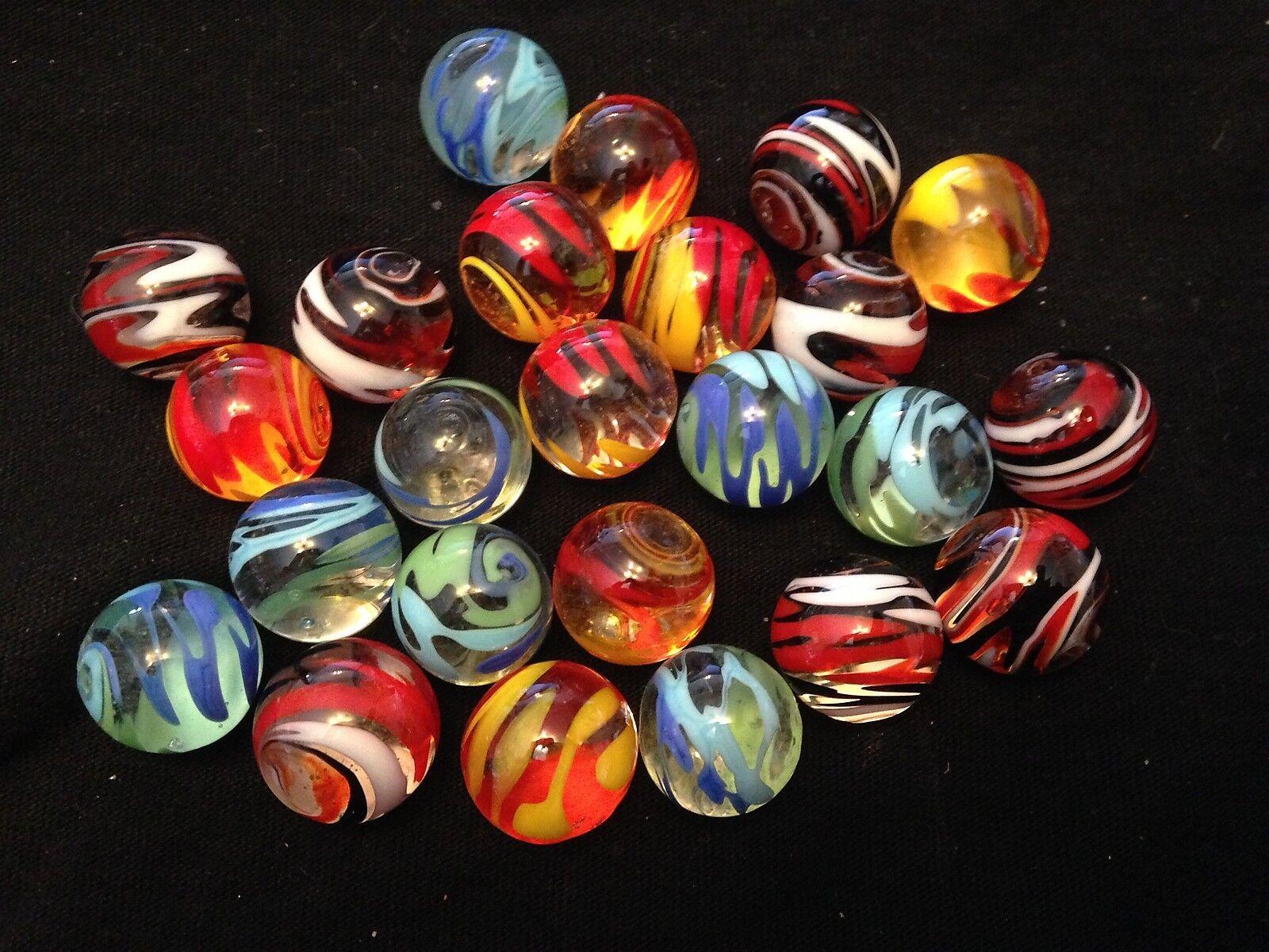 Hom Glass Marbles Coleccionable 16mm hermoso hecho a mano de mármol-Linterna 3 tipos