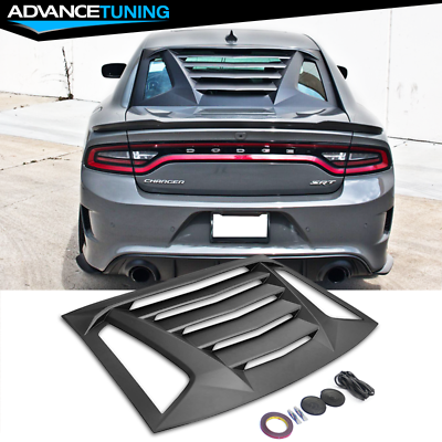 V2 Style,Rear Side Quarter Scoop Louvers Window Louver Compatible With 2011-2020 Dodge Charger IKON MOTORSPORTS