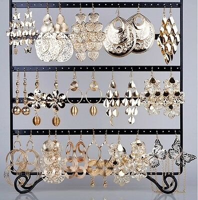 12 Pairs Wholesale Jewelry Bulk Mixed Style Gold Plated Woman Dangling Earrings