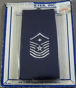 Large US Air Force Shoulder Epaulets Master Sergeant New
