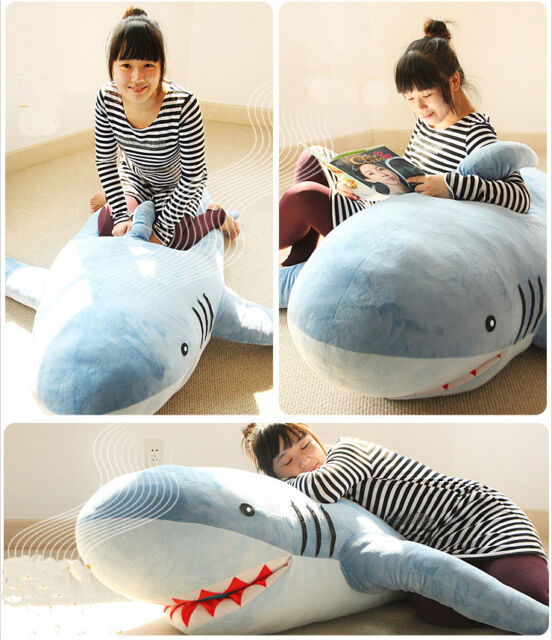 Excellent Large Giant Huge Shark Stuffed Animal Plush Soft Toy Pillow Sofa Bean Bag Gift Creativecarmelina Interior Chair Design Creativecarmelinacom