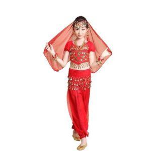 Image is loading Kids-Girl-Professional-Indian-Dance-Dress-Set-Belly-  sc 1 st  eBay & Kids Girl Professional Indian Dance Dress Set Belly Dance Halloween ...