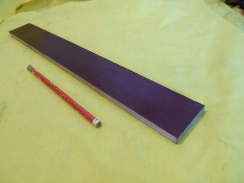 "BROWN PHENOLIC FLAT STOCK machinable micarta sheet bar plate 3//8/"" x 2/"" x 17/"""