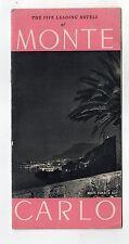 brochure depliant turistico - THE FIVE LEADING HOTELS MONTE CARLO