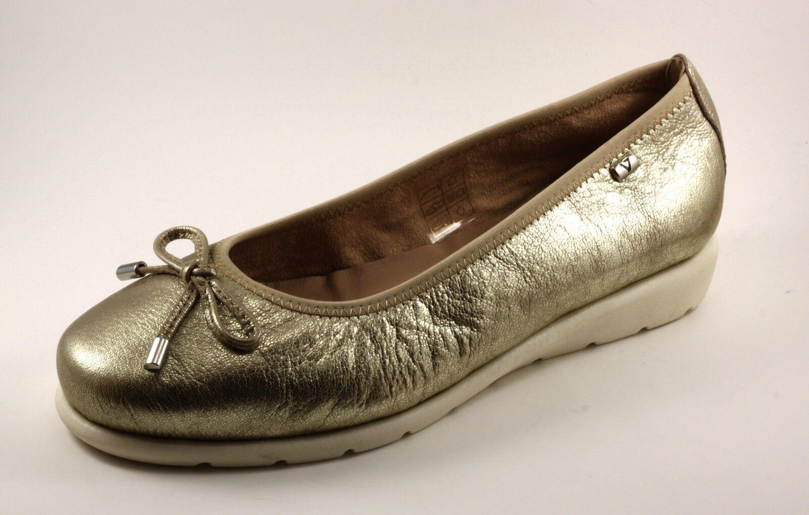 VALLEverde SCARPE DONNA BALLERINE ESTIVE IN PELLE oro oro oro PLATINO MODA CONFORT n. 36 0cc7dd