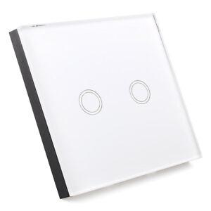 lichtschalter mit fernbedienung glas touchscreen wandschalter 2 weg b3e4 190268324625 ebay. Black Bedroom Furniture Sets. Home Design Ideas
