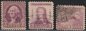 OL71A-USA-1932-3-3-SINGLE-ISSUES-USED