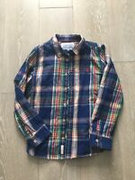 Joules Boys Tartan Check Shirt Size Age 7 Blue Christmas ? Vgc