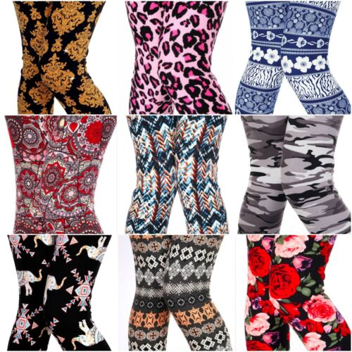 Lot of 10 Leggings Tribal Aztec Floral Paisley Assorted Wholesale ONE SIZE OS