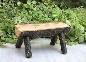 Mini Fairy Garden Wooden Chair Seashore Bench DollHouse Furniture Figurine#3