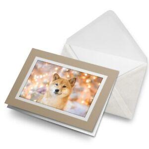 Greetings-Card-Biege-Shiba-Inu-Japanese-Dog-Puppy-8751