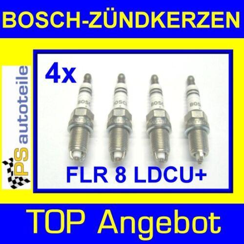 4x BOSCH-Zündkerze FRL 8 LDCU Opel Zafira A 1.6-2.0 OPC