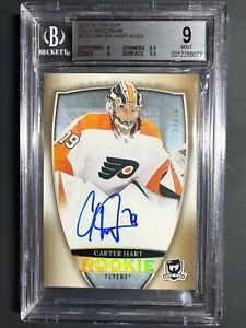 2018-19-The-Cup-Carter-Hart-Rookie-GOLD-Spectrum-Auto-36-Graded-BGS-9-10-Auto