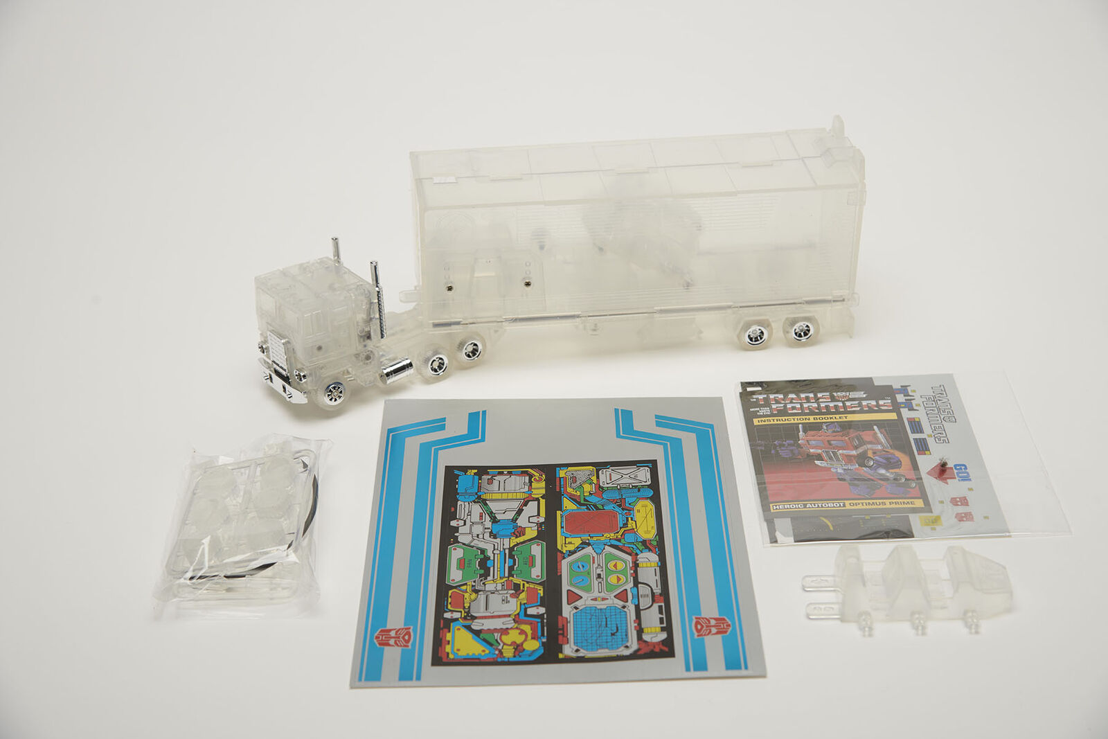 Transformers Optimes Prime G1 transformers Reissue Transparent Version AutoBot