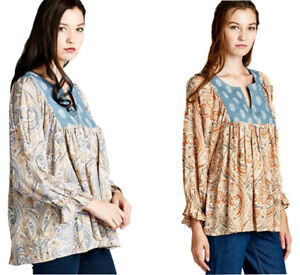 JODIFL-Womens-Boho-Paisley-Bohemian-Peasant-Chic-Long-Sleeve-Top-Blouse-S-M-L