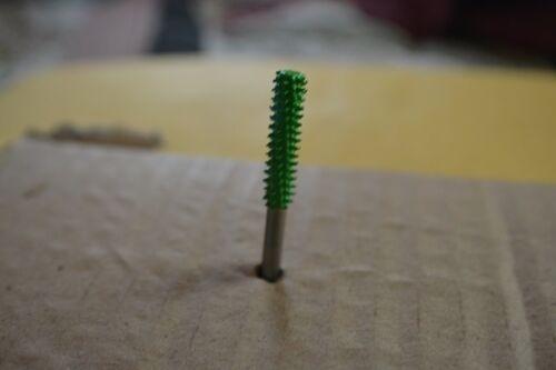 """Saburr Tooth Green 1//8/"""" Shank Cylinder Safe End 1//8/"""" Coarse Grit 18C18SE"""
