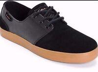 Circa Crip-bbg Crip Mn's (m) Black/gum Canvas Skate Shoes
