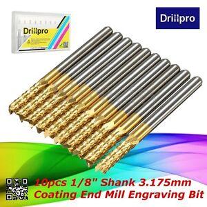 10Pcs-1-8-034-3-175mm-Carbide-End-Mill-Titanium-Coated-CNC-Router-PCB-Engraving-Bit