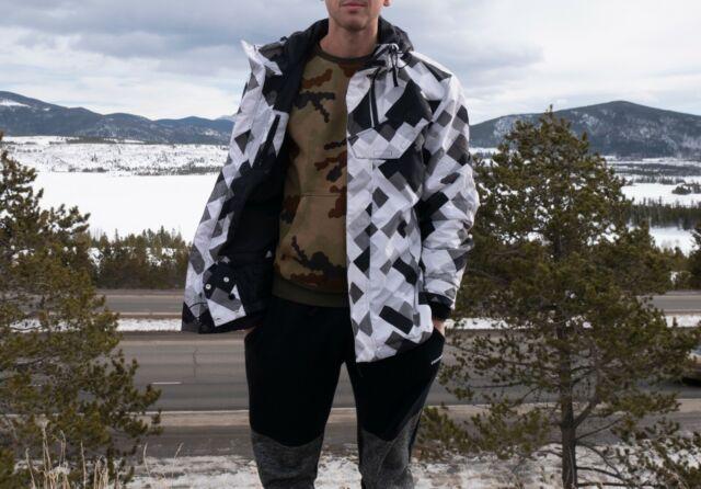 Adidas Xl Civilian Snowboard Ski Jacket Blue By Keegan Valaika F95808 For Sale Online Ebay