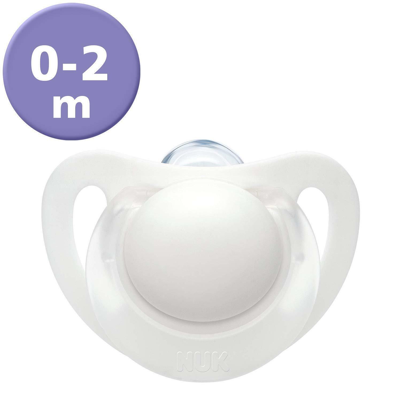 BPA Free NUK Medic Pro Genius Newborn Dummies 2 Count 0-2 Months