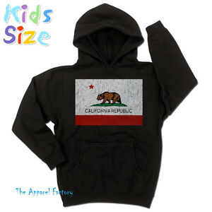 65a4b680b Image is loading New-KIDS-California-Republic-Flag-Hoodie-All-Sizes-