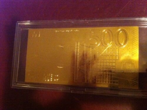 Golden 500 EURO-European Union MONEY 2002 24 KT GOLDEN BILLS MONEY COLLECTIBLES