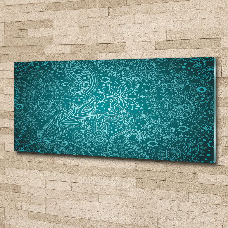 Murales de pantalla de vidrio de la impresión en de ornamentos de arte decorativo de en cristal 125 x 50 3c3af6