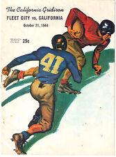 NCAA FOOTBALL PROGRAM 1944 FLEET CITY NAVY CALIFORNIA GOLDEN BEARS COCA COLA AD