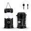 2 Pack Fulighture Solar Camping Lantern LED Portable Flashlight USB Charging,